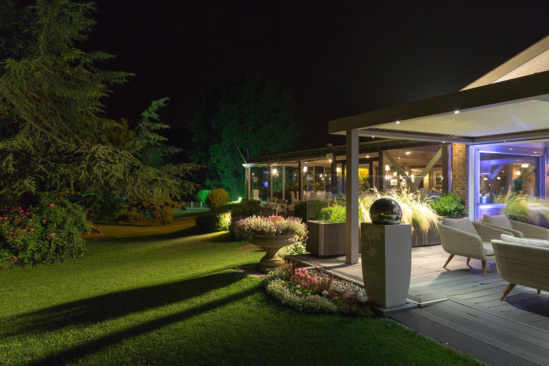 Illumination du domaine en soirée dîner, réception, vin d'honneur